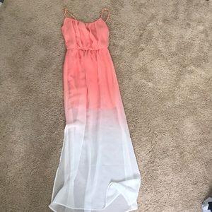 Peach Ombré maxi dress